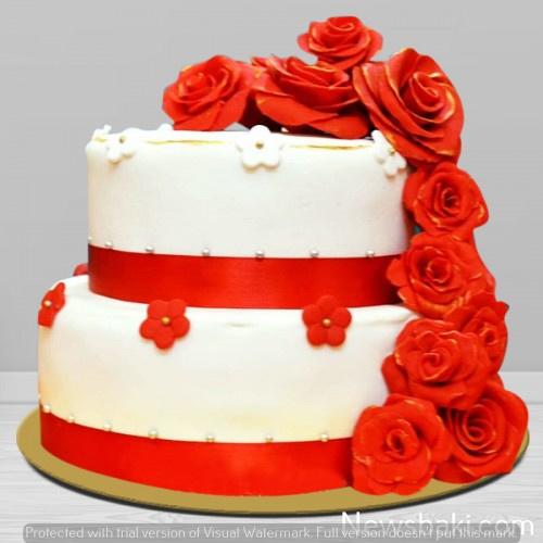 beautiful design double story cake 500x500 1