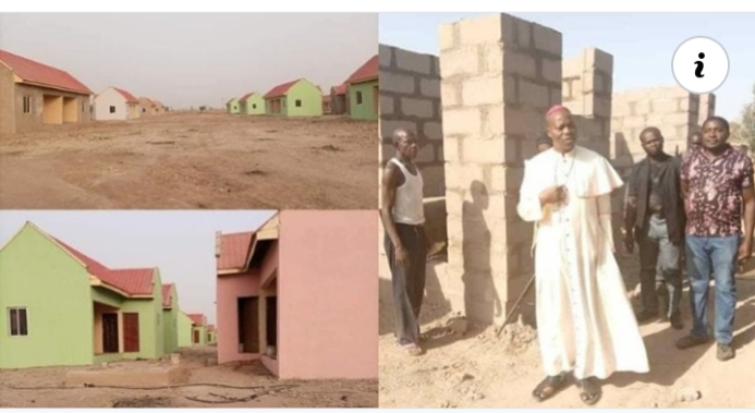 Catholic bishop builds estate with 86 houses for IDPs in Adamawa