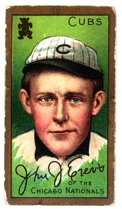 Johnny Evers Chicago Cubs baseball card
