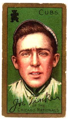 Joe Tinker Chicago Cubs baseball card
