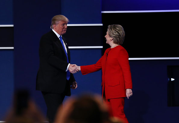 Post-debate poll gives Clinton lead over Trump
