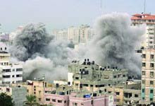 Israel Bombs Hamas Gaza City in All Out War