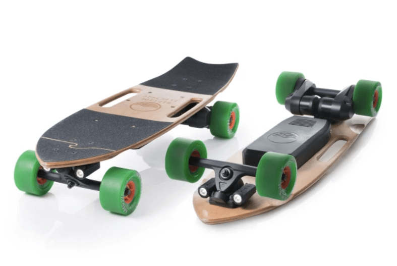 """Riptide R1 is a new electric skateboard that packs massive power (1,800W) into a compact, 31"""" deck."""