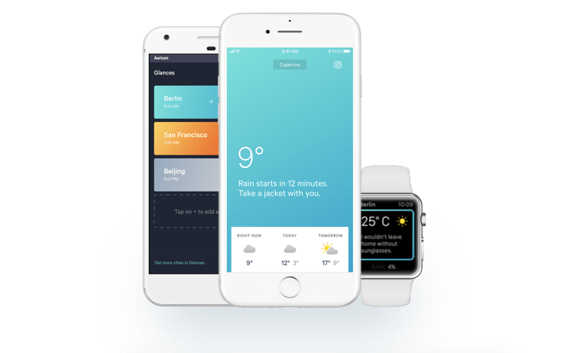 Aerium is an environment-friendly weather app with a focus on design and accessibility.