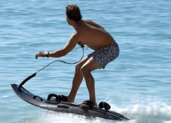 Mako Board is a surfing product that provides an electric jetboard.