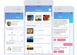 Trixie is an Android and iPhone health and fitness chatbot that suggests meditation based on users' mood and the time of day.