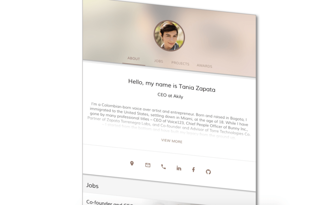 Torre Bio claims to reinvent resumes by creating a graph database portrait of a user's experiences, strengths, and interests.