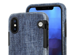 Solid Denim Shell is an iPhone shell made from layers of recycled denim fabric taken from damaged and discarded jeans