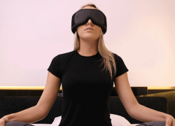 "The Silentmode napping mask's immersive, high-end wireless audio allows users to experience customized relaxation training through its ""Nap-iness"" algorithm."