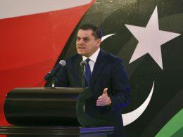 Libyan Prime Minister Abdul Hamid Dbeibah reopens Misrata-Sirte coastal roadi on Sunday, June 20, 2021.