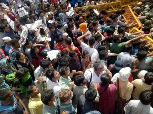 UGC protest