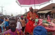 VIDEO: Oluwo of Iwo, Oba Akanbi in festive ride round Iwo town