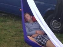 DG hammock snoozing Sunday