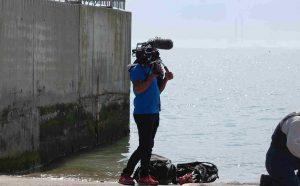 Doldrum Beach Clean Fingal Co Co film crew