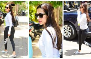 Malaika Arora gets heads turning as she steps out for a gym session