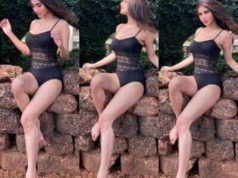 Mouni Roy's sultry look in a black swimsuit sets internet on fire
