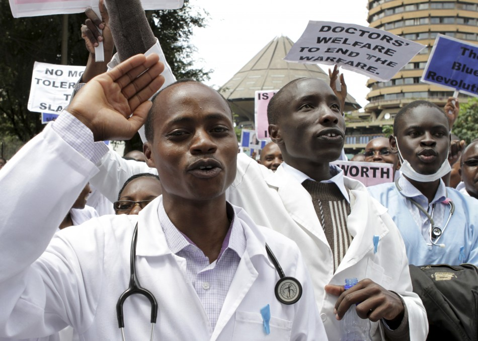 Doctors demonstrating for illustration purpose only