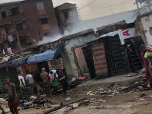 Fire at Adele Market