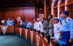 Northeast governors, Service Chiefs, Buhari meet