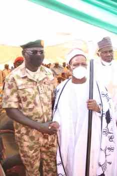 Buratai with new Emir of Biu