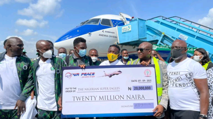 Air Peace boss fulfils promise to Eagles, harps on unity – Newsdiaryonline