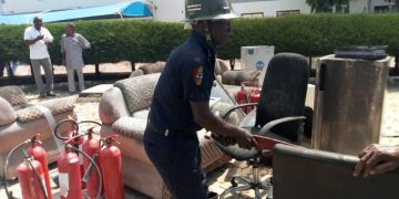 Fire Fighters Averts Fire Outbreak In NSGH Minna