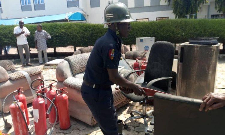 Fire Fighters Averts Fire Outbreak In NSGH Minna