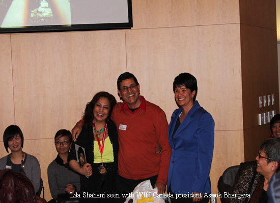 WIN Canada president Ashok Bhargava with Lila Shahani copy
