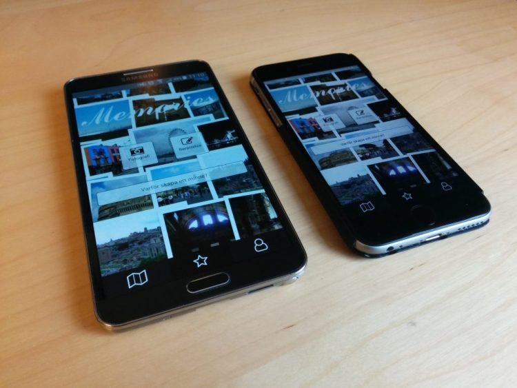 React Native app som ser likadan ut i både iOS och Android.