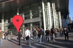 Google Map Pin utanför konferensen