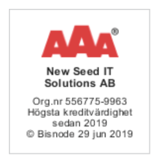 NewSeed får AAA-kreditvärdighet