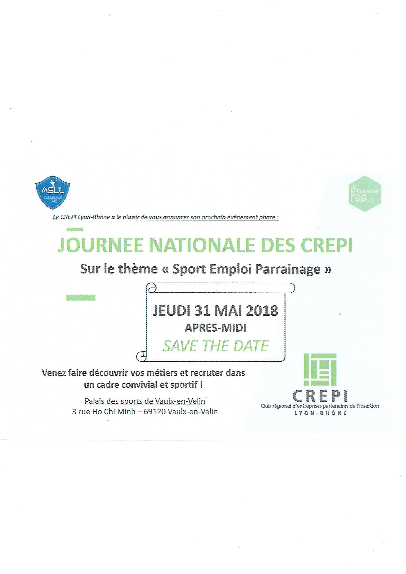 VAULX-EN-VELIN | Journée nationale des CREPI » Sport Emploi Parrainage «