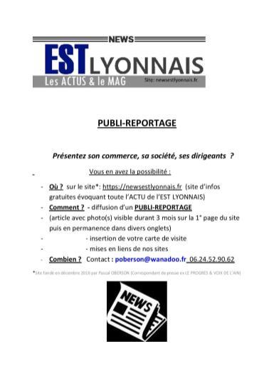 NEWSESTLYONNAIS - PUBLI-REPORTAGE