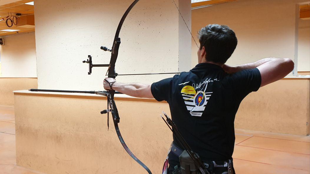 VILLEURBANNE   Concours en salle tir à l'arc avec Héraclès