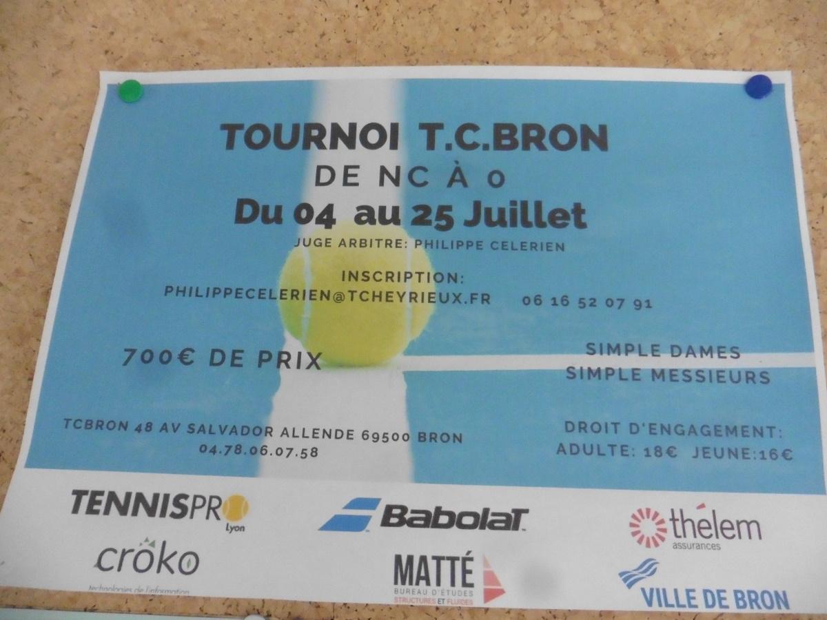 BRON | Clap de fin du tournoi de tennis ce jour