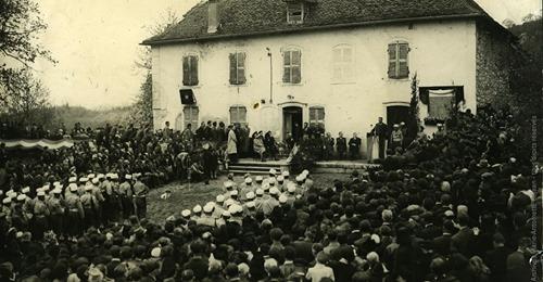 AIN   Rafle d'Izieu > cérémonie commémorative