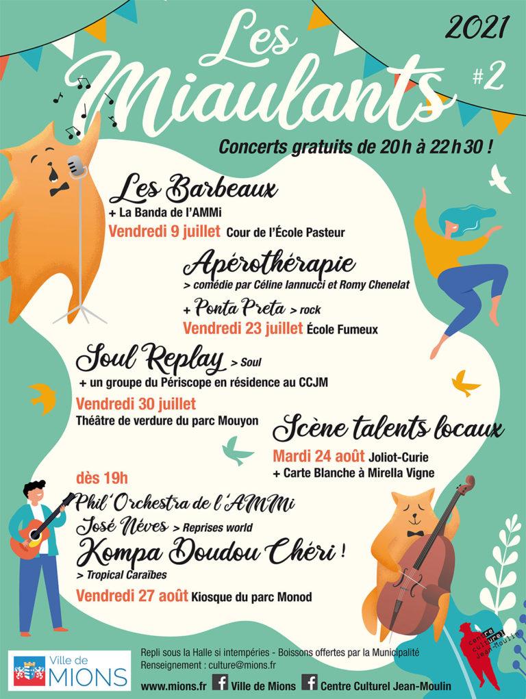 Mions | «Les Miaulants» concerts estivaux gratuits (juillet et août)