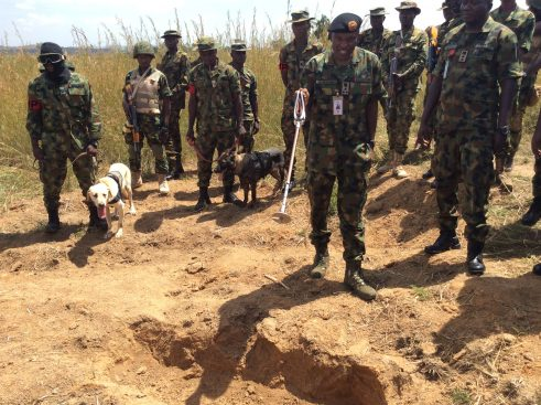 •Grave where the body of Gen. Alkali was exhumed before it was secretly reburied