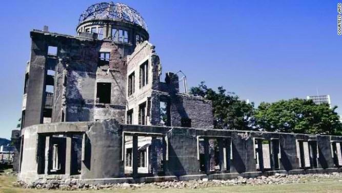 The Hiroshima City, Japan bombing site.