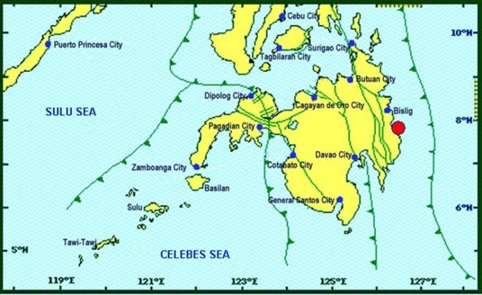 Davao Oriental magnitude 4.4 earthquake