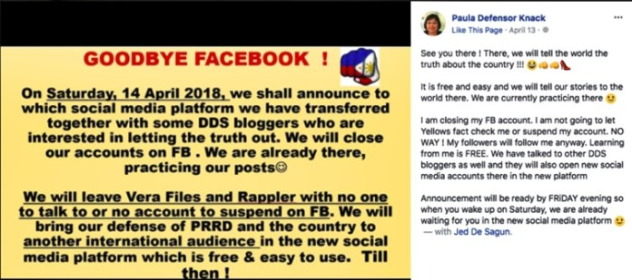 Duterte Supporters Plan To Deactivate FB Accounts Following
