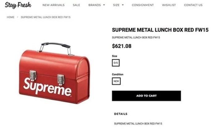 Lunch box of Supreme