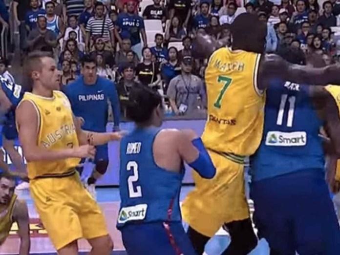 Brawl between Philippines and Australia