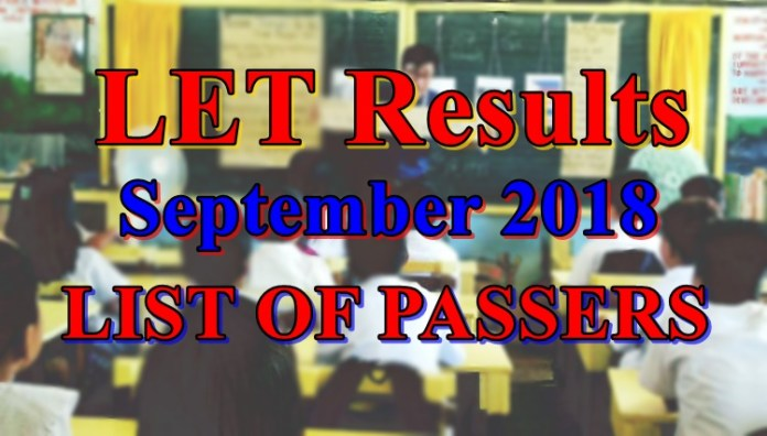 LET Results September 2018