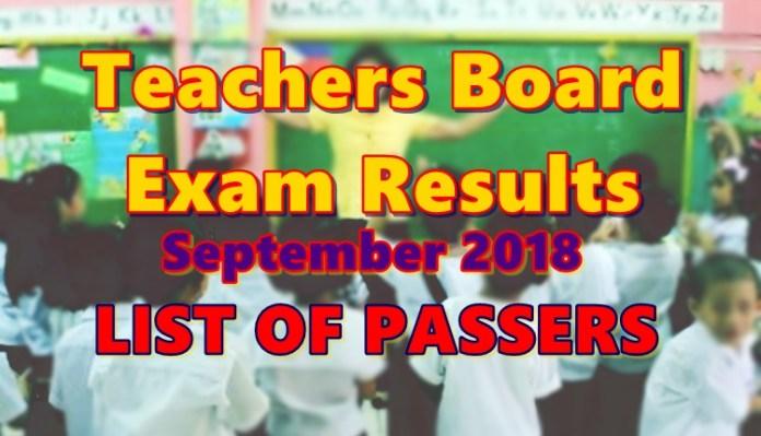 Teachers Board Exam Results