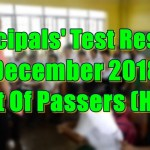 Principals Test Results