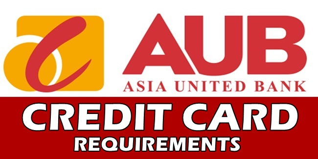AUB Credit Card Requirements