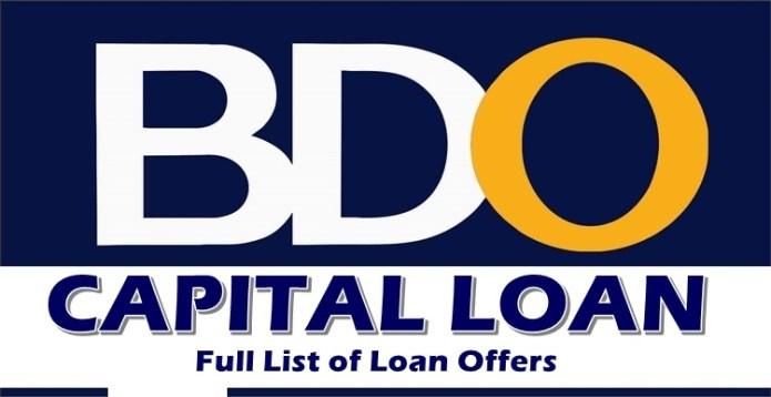 BDO Capital Loan
