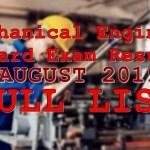 mechanical engineer full list