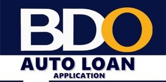 BDO Auto Loan Application